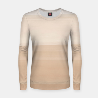 Thumbnail image of Touching Warm Beige Watercolor Abstract #1 #painting #decor #art  Frauen sweatshirt, Live Heroes