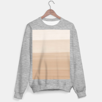 Thumbnail image of Touching Warm Beige Watercolor Abstract #1 #painting #decor #art  Sweatshirt regulär, Live Heroes