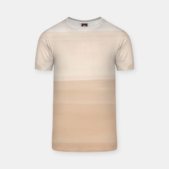 Thumbnail image of Touching Warm Beige Watercolor Abstract #1 #painting #decor #art  T-Shirt, Live Heroes
