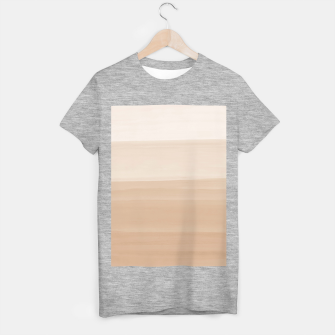 Thumbnail image of Touching Warm Beige Watercolor Abstract #1 #painting #decor #art  T-Shirt regulär, Live Heroes
