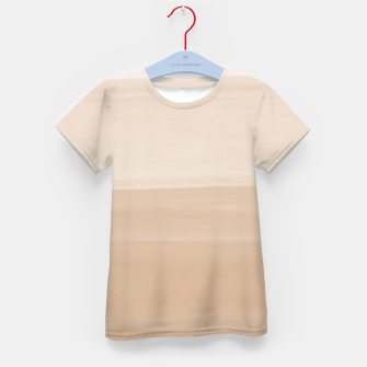 Thumbnail image of Touching Warm Beige Watercolor Abstract #1 #painting #decor #art  T-Shirt für kinder, Live Heroes