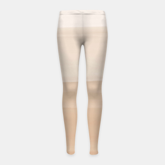 Thumbnail image of Touching Warm Beige Watercolor Abstract #1 #painting #decor #art  Kinder-Leggins, Live Heroes
