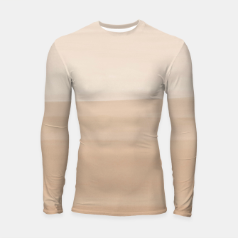 Thumbnail image of Touching Warm Beige Watercolor Abstract #1 #painting #decor #art  Longsleeve rashguard, Live Heroes