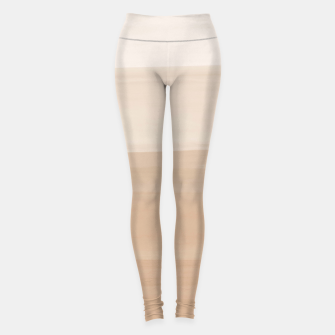 Thumbnail image of Touching Warm Beige Watercolor Abstract #1 #painting #decor #art  Leggings, Live Heroes