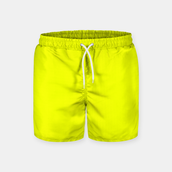 Thumbnail image of Pantone Safety Yellow neon bright stylish pure color Swim Shorts, Live Heroes