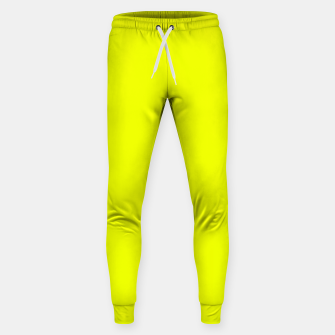Thumbnail image of Pantone Safety Yellow neon bright stylish pure color Sweatpants, Live Heroes