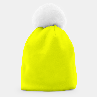 Thumbnail image of Pantone Safety Yellow neon bright stylish pure color Beanie, Live Heroes