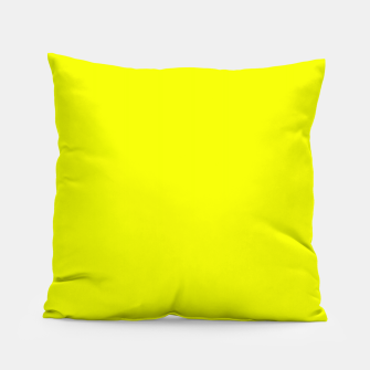 Thumbnail image of Pantone Safety Yellow neon bright stylish pure color Pillow, Live Heroes