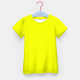 Thumbnail image of Pantone Safety Yellow neon bright stylish pure color Kid's t-shirt, Live Heroes