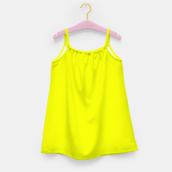Thumbnail image of Pantone Safety Yellow neon bright stylish pure color Girl's dress, Live Heroes