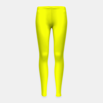 Thumbnail image of Pantone Safety Yellow neon bright stylish pure color Girl's leggings, Live Heroes
