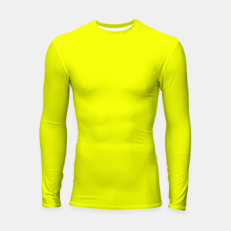Thumbnail image of Pantone Safety Yellow neon bright stylish pure color Longsleeve rashguard , Live Heroes