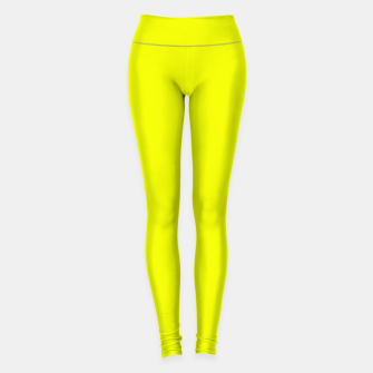 Thumbnail image of Pantone Safety Yellow neon bright stylish pure color Leggings, Live Heroes