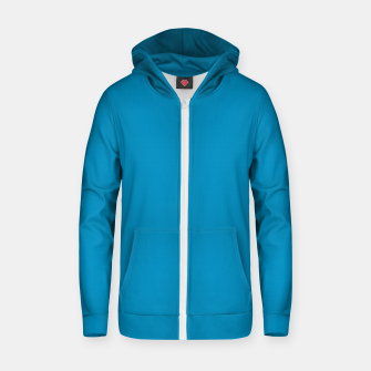 Thumbnail image of Pantone neon color Atomic Blue navy pure colour fashion summer Zip up hoodie, Live Heroes