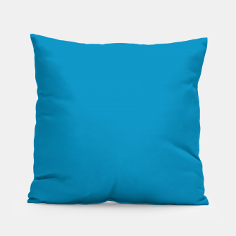Thumbnail image of Pantone neon color Atomic Blue navy pure colour fashion summer Pillow, Live Heroes