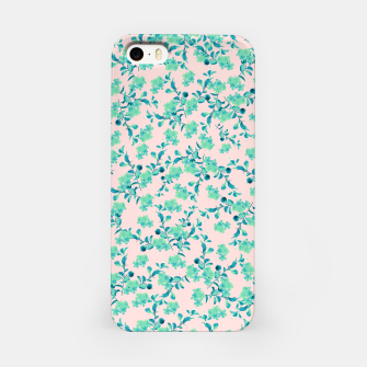 Miniaturka Turquoise Blush Mint Flower Pattern #1 #spring #floral #decor #art iPhone-Hülle, Live Heroes