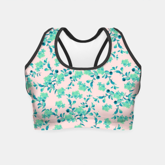 Miniaturka Turquoise Blush Mint Flower Pattern #1 #spring #floral #decor #art Crop Top, Live Heroes