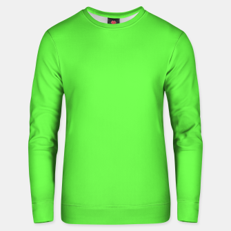 Pantone neon Florescent Green Gecko pure fashion summer clear Unisex sweater thumbnail image