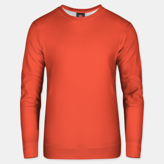 Thumbnail image of Pantone Mandarin Red pure clear colour Autumn/Winter 2020/2021 London Unisex sweater, Live Heroes