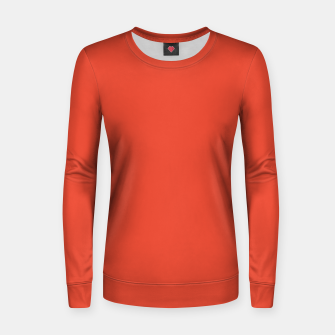 Thumbnail image of Pantone Mandarin Red pure clear colour Autumn/Winter 2020/2021 London Women sweater, Live Heroes