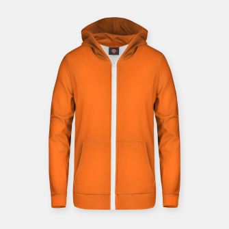Thumbnail image of  neon Florescent Orange Clown Fish pure fashion summer Zip up hoodie, Live Heroes