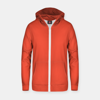 Thumbnail image of Pantone Mandarin Red pure clear colour Autumn/Winter 2020/2021 London Zip up hoodie, Live Heroes