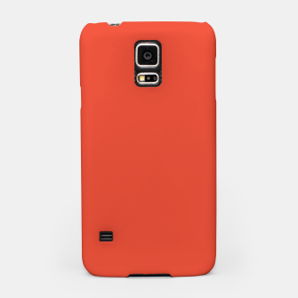 Thumbnail image of Pantone Mandarin Red pure clear colour Autumn/Winter 2020/2021 London Samsung Case, Live Heroes