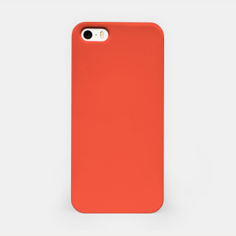 Thumbnail image of Pantone Mandarin Red pure clear colour Autumn/Winter 2020/2021 London iPhone Case, Live Heroes