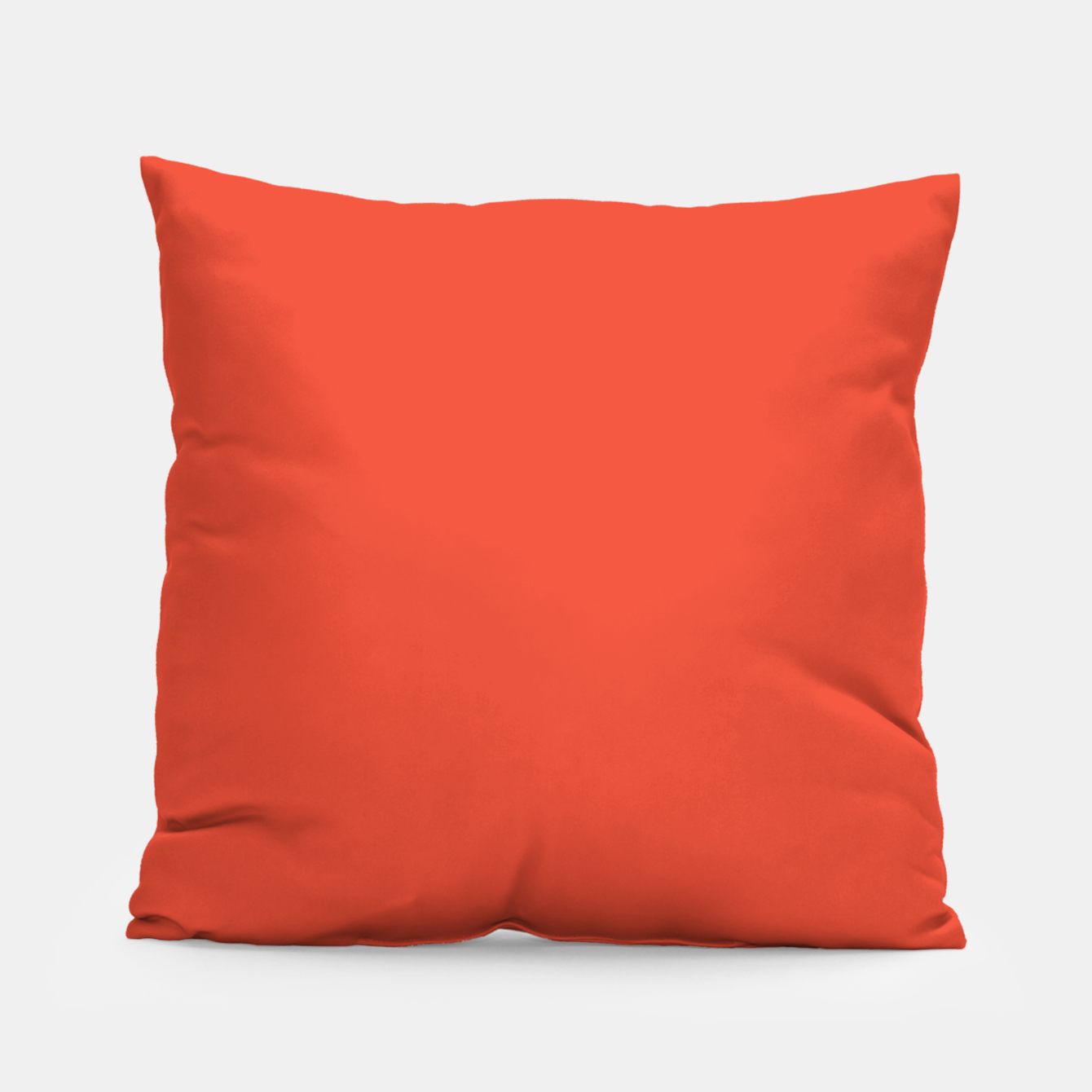 Image of Pantone Mandarin Red pure clear colour Autumn/Winter 2020/2021 London Pillow - Live Heroes