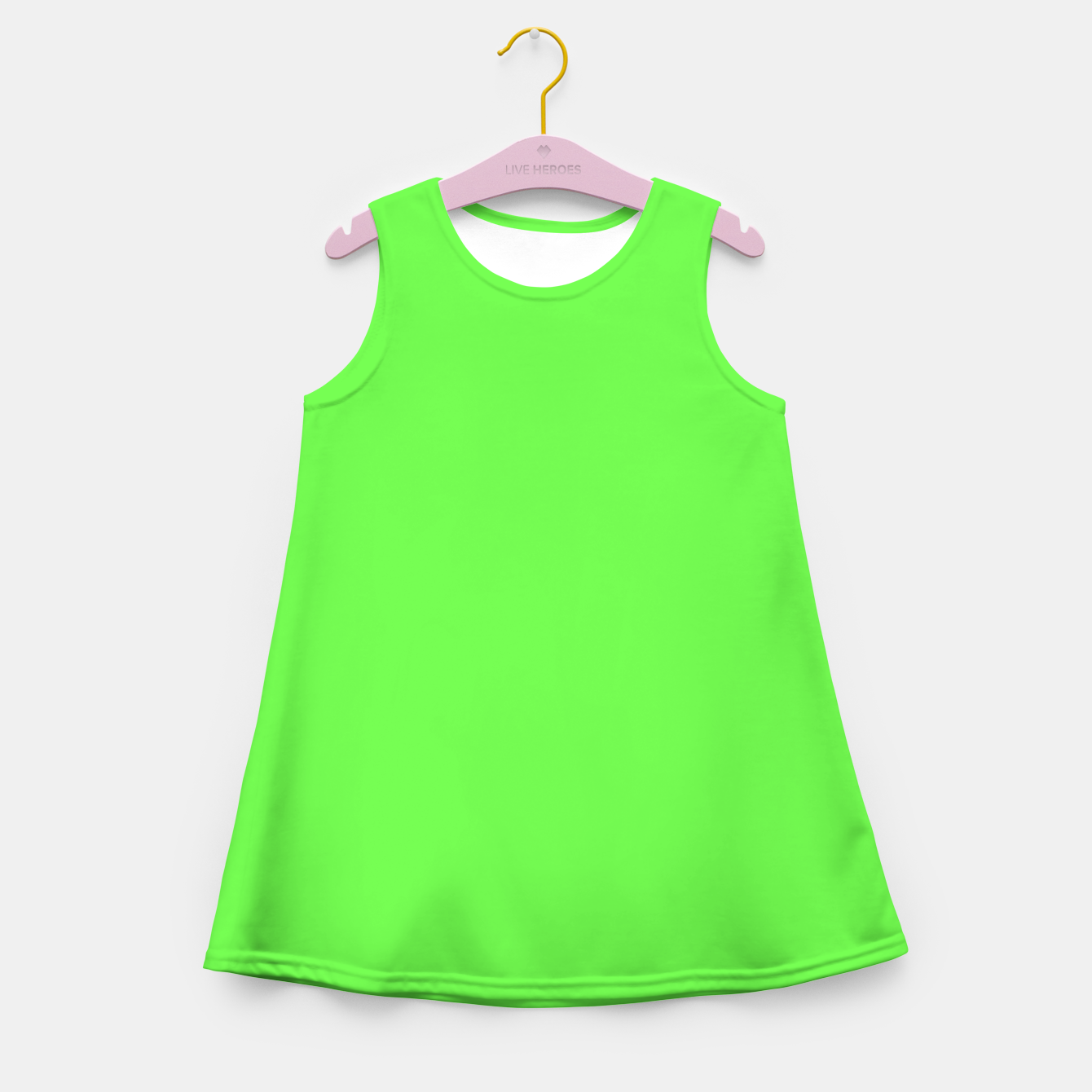 Image of Pantone neon Florescent Green Gecko pure fashion summer clear Girl's summer dress - Live Heroes