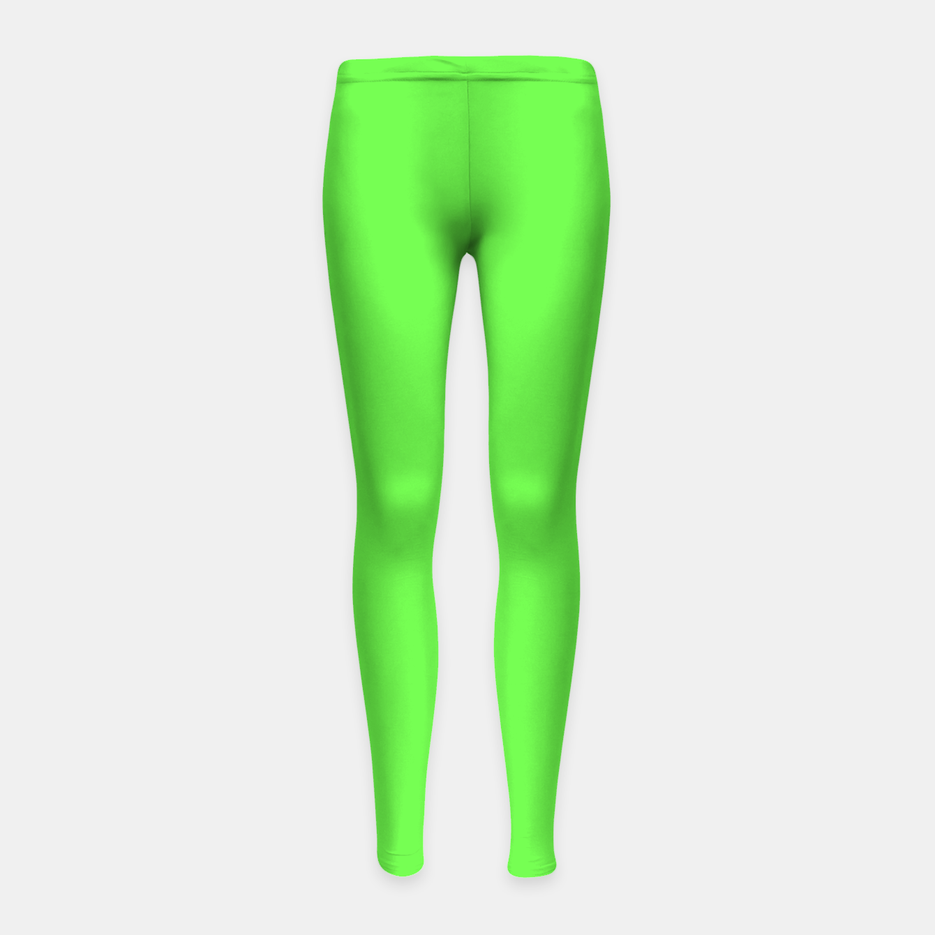 Image of Pantone neon Florescent Green Gecko pure fashion summer clear Girl's leggings - Live Heroes