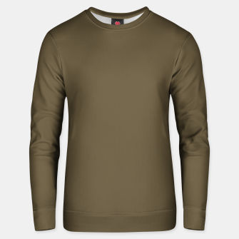 Thumbnail image of Pantone Military Olive pure clear green tone dark colour Autumn/Winter 2020/2021 London Unisex sweater, Live Heroes