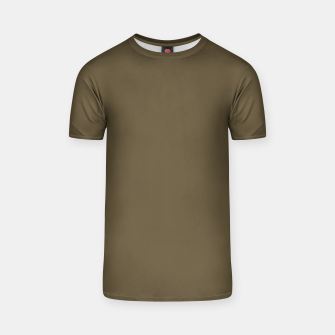 Thumbnail image of Pantone Military Olive pure clear green tone dark colour Autumn/Winter 2020/2021 London T-shirt, Live Heroes