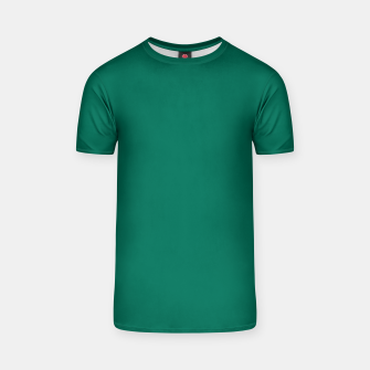 Thumbnail image of Pantone Ultramarine Green pure clear turquoise tone colour Autumn/Winter 2020/2021 London T-shirt, Live Heroes
