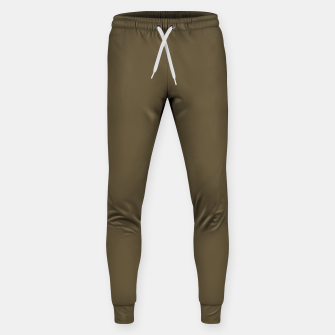 Thumbnail image of Pantone Military Olive pure clear green tone dark colour Autumn/Winter 2020/2021 London Sweatpants, Live Heroes