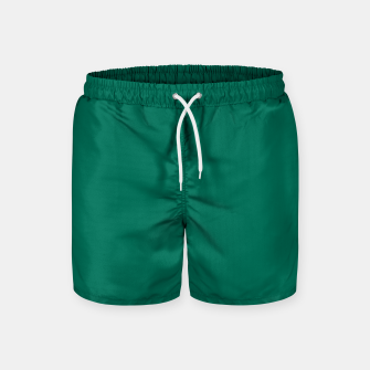 Thumbnail image of Pantone Ultramarine Green pure clear turquoise tone colour Autumn/Winter 2020/2021 London Swim Shorts, Live Heroes