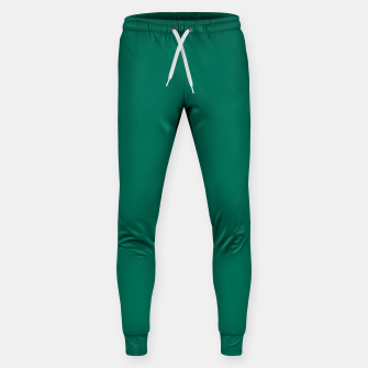 Thumbnail image of Pantone Ultramarine Green pure clear turquoise tone colour Autumn/Winter 2020/2021 London Sweatpants, Live Heroes