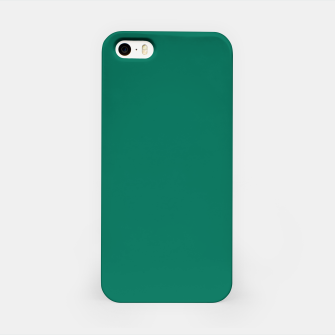 Thumbnail image of Pantone Ultramarine Green pure clear turquoise tone colour Autumn/Winter 2020/2021 London iPhone Case, Live Heroes