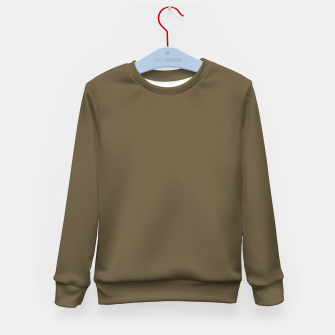 Thumbnail image of Pantone Military Olive pure clear green tone dark colour Autumn/Winter 2020/2021 London Kid's sweater, Live Heroes