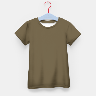 Thumbnail image of Pantone Military Olive pure clear green tone dark colour Autumn/Winter 2020/2021 London Kid's t-shirt, Live Heroes