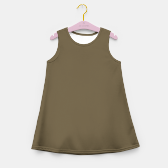 Thumbnail image of Pantone Military Olive pure clear green tone dark colour Autumn/Winter 2020/2021 London Girl's summer dress, Live Heroes