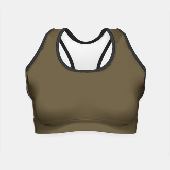 Thumbnail image of Pantone Military Olive pure clear green tone dark colour Autumn/Winter 2020/2021 London Crop Top, Live Heroes