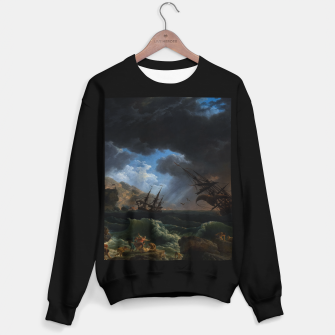 Thumbnail image of A Shipwreck in Stormy Seas (Tempête) by Claude Joseph Vernet Sweater regular, Live Heroes