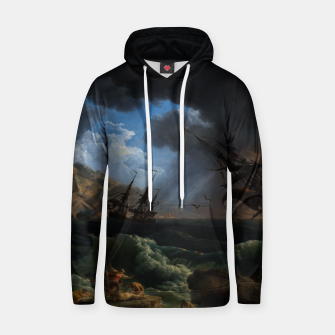 Thumbnail image of A Shipwreck in Stormy Seas (Tempête) by Claude Joseph Vernet Hoodie, Live Heroes