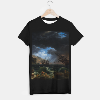Thumbnail image of A Shipwreck in Stormy Seas (Tempête) by Claude Joseph Vernet T-shirt regular, Live Heroes