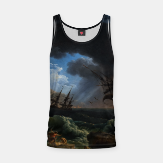 Thumbnail image of A Shipwreck in Stormy Seas (Tempête) by Claude Joseph Vernet Tank Top, Live Heroes