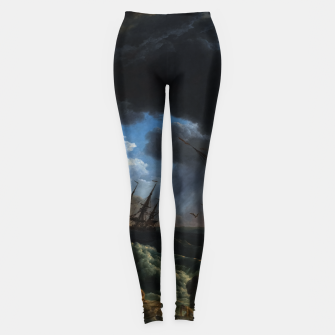 Thumbnail image of A Shipwreck in Stormy Seas (Tempête) by Claude Joseph Vernet Leggings, Live Heroes