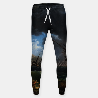 Thumbnail image of A Shipwreck in Stormy Seas (Tempête) by Claude Joseph Vernet Sweatpants, Live Heroes