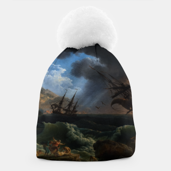 Thumbnail image of A Shipwreck in Stormy Seas (Tempête) by Claude Joseph Vernet Beanie, Live Heroes