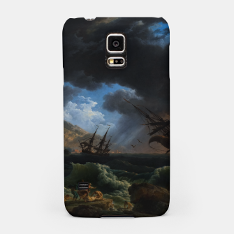 Thumbnail image of A Shipwreck in Stormy Seas (Tempête) by Claude Joseph Vernet Samsung Case, Live Heroes